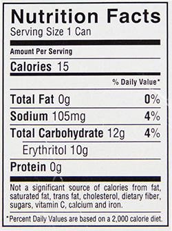 Kill Cliff Wild Raspberry Blueberry Nutrition Facts