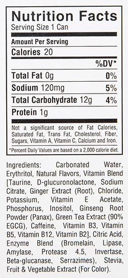 Kill Cliff Blackberry Lemonade Nutrition Facts