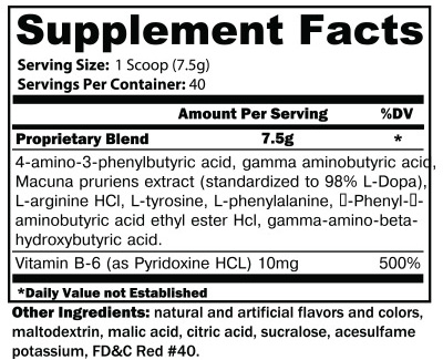 Noxitropin PM Supplement Facts
