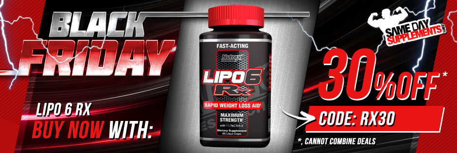 NUTREX LIPO 6 RX BLACK FRIDAY BANNER