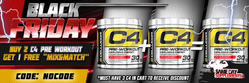 black ftiday c4 pre workout