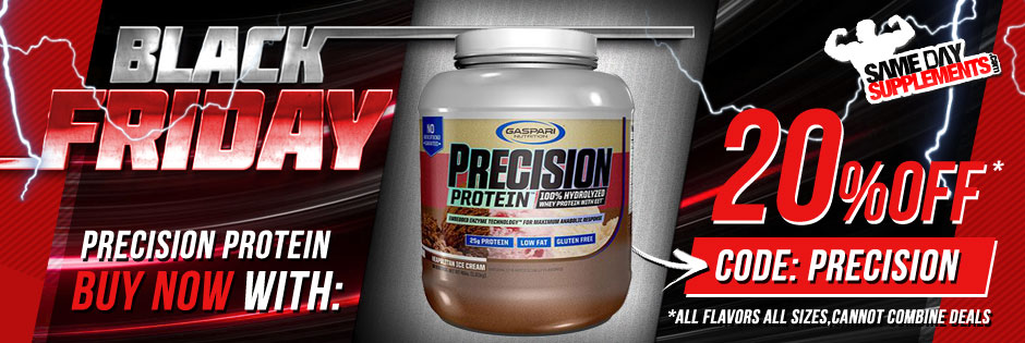 gaspari precision protein banner black friday