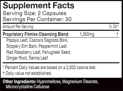FitMiss Cleanse Supplement Facts