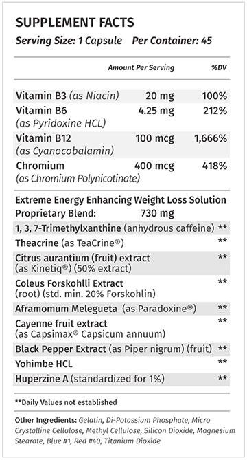 Stimukal Supplement Facts