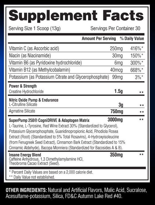 SuperPump 250 label