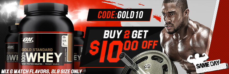 GOLD STANDARD WHEY 10 off