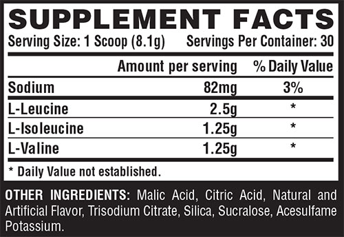 Amino Drive Peach Pineapple Supplement Facts