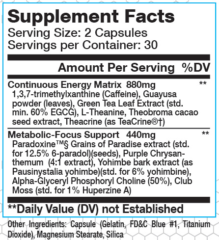 PX Ultra Supplement Facts