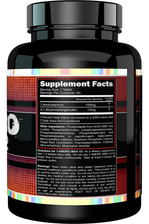 1 Andro Max v2 Supplement Facts