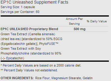 Ep1c Unleashed Supplement Facts