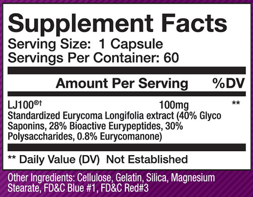 Olympus Labs LJ100 Supplement Facts
