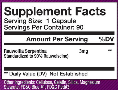 Olympus Labs Rauwolscine Supplement Facts