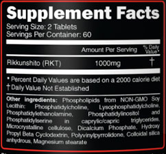 RKT-GH Supplement Facts