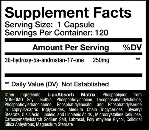 Sup3r EPI Elite Supplement Facts