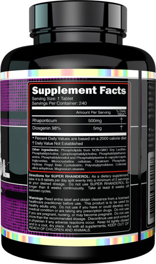 Super Rhanderol Supplement Facts
