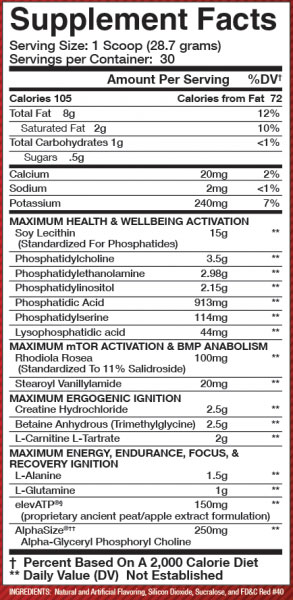 Olympus Labs Tr1umph Supplement Facts