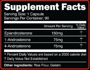 Tri Andro Supplement Facts