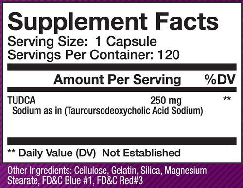 Olympus Labs TUDCA Supplement Facts