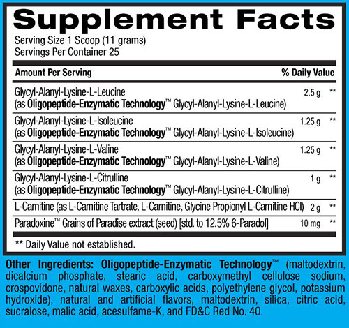 Best BCAA Shredded Supplement Facts