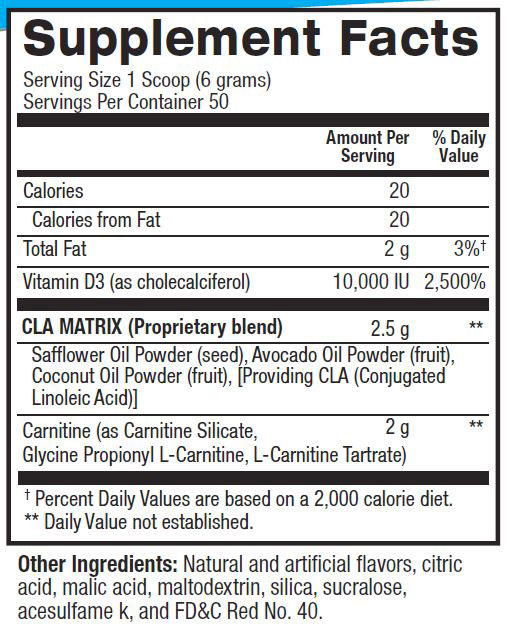 CLA Plus Carnitine Supplement Facts