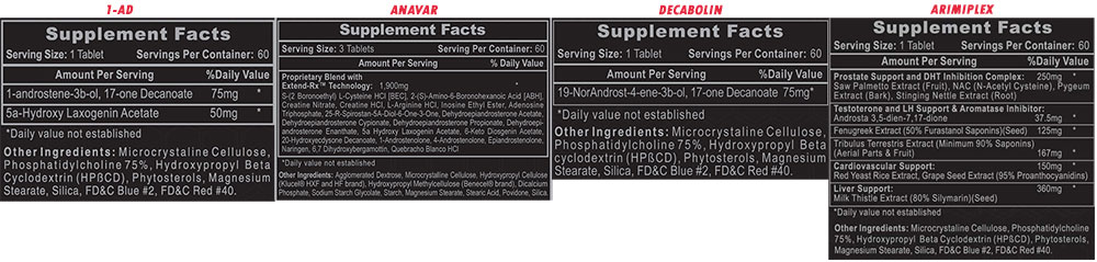 The Ultimate Shred Stack Supplement Facts
