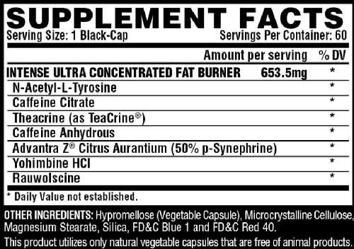 Lipo 6 Black Intense Supplement Facts