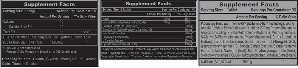Lipodrene Ephedra Free Weight Loss Stack Supplement Facts