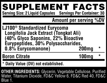 Nutrex Tested Supplement Facts