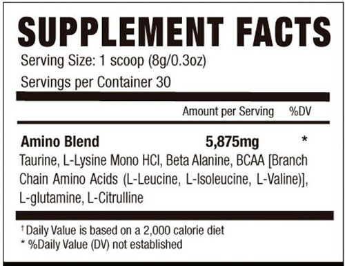 Her Aminos Supplement Facts