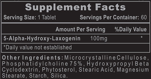 Laxogenin 100 Supplement Facts