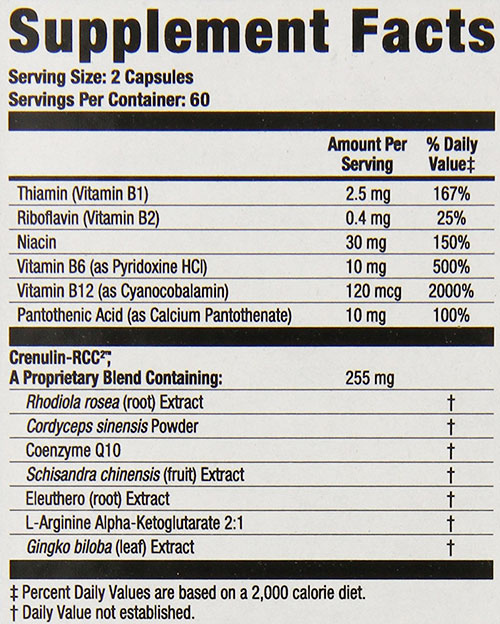 Oxydrene Supplement Facts