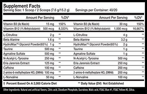 Kraken Pre Workout Supplement Facts