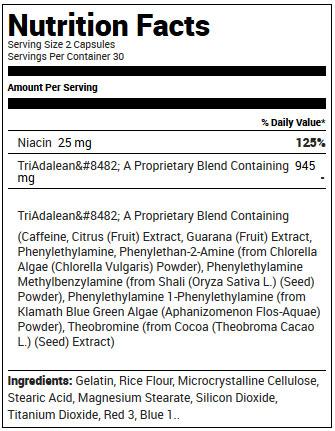 Triadalean Supplement Facts