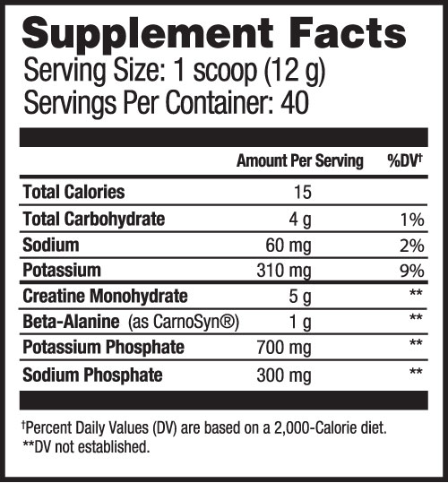 Creatine Select Supplement Facts