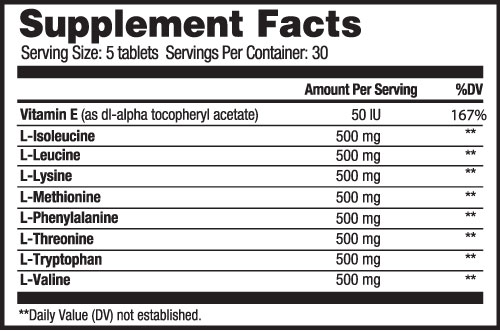 Density Supplement Facts