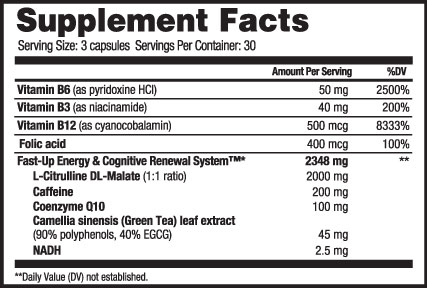 Fast Up Supplement Facts