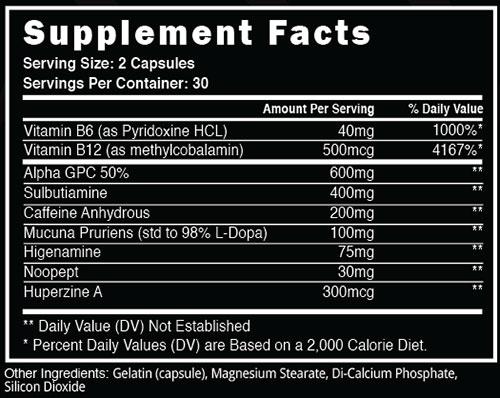 Focused AF Supplement Facts