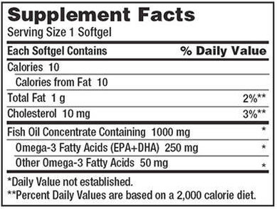 Kirkland Fish Oil Supplement Facts