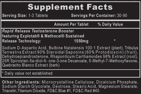 Bulasterone Supplement Facts
