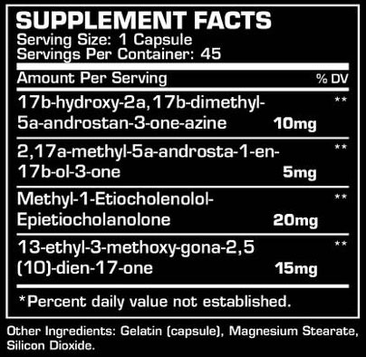 Dragon Pharma Hydra Supplement Facts