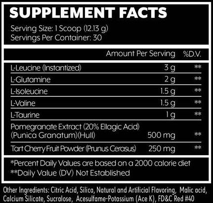 Goliath BCAA Supplement Facts