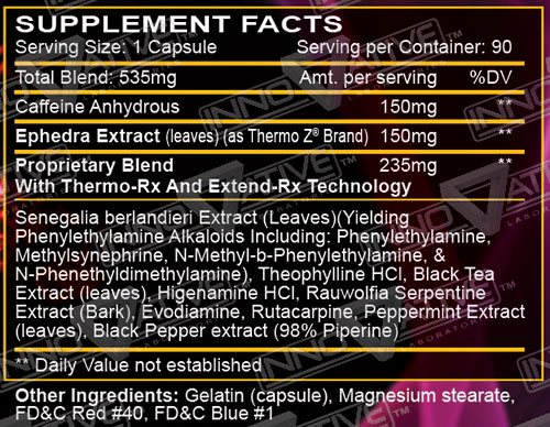 HellFire Fat Burner Supplement Facts