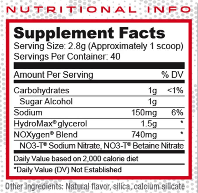 noxygen label