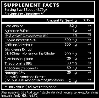 Sidewalk Kraka Supplement Facts