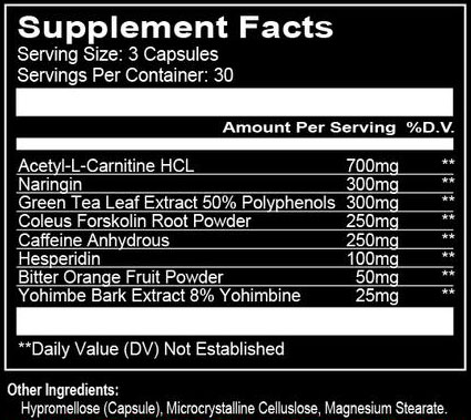 Run Everything Labs DTE Supplement Facts