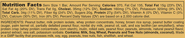 Animal Snak Bar Nutrition Facts