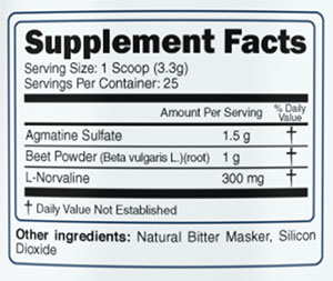Gorilla Pumps Supplement Facts