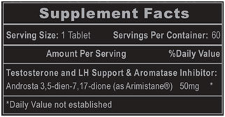 Arimistane Supplement Facts