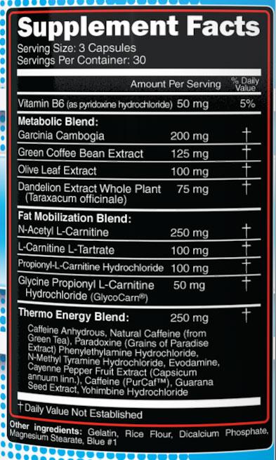 Hurakan Supplement Facts