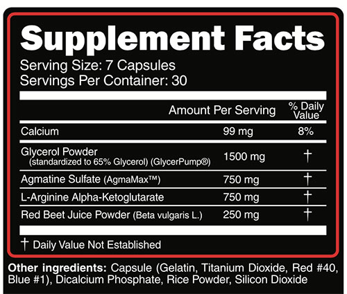 Vasogorge Supplement Facts